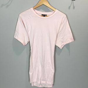 Women's Sz 10 Pink Top Shop Crew neck T Shirt